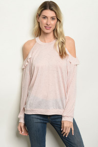 S15-10-4-T53683 PEACH BLACK TOP 2-2-2