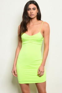 S3-10-5-D4230 NEON LIME DRESS 2-2-2