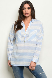 S17-7-6-T24444 BLUE STRIPES TOP 1-1-1