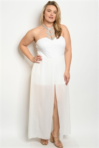 S21-12-1-J34276X WHITE PLUS SIZE JUMPSUIT 2-2-1