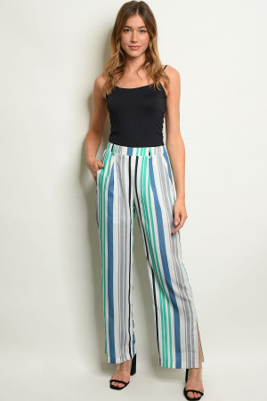 S15-1-4-P7312 OFF WHITE STRIPES PANTS 3-2-1