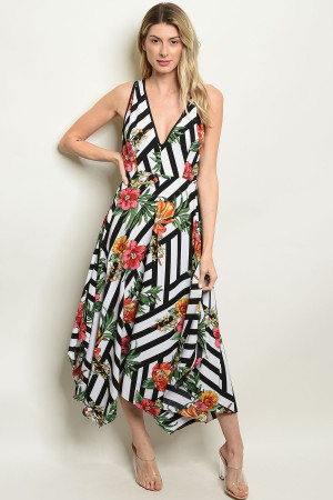 418ac348ac Quick View this Product S8-11-4-D82096 BLACK WHITE PRINT DRESS 2-2-2