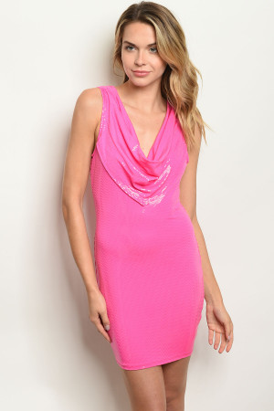 C48-A-3-D2546 PINK WITH SEQUINS DRESS 2-2-2  ***WARNING: California Proposition 65***