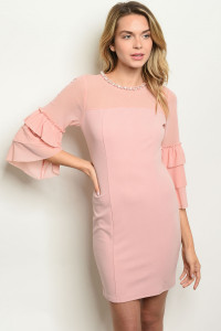 S11-12-1-D2274 BLUSH WITH PEARL PRINT DRESS 2-2-2