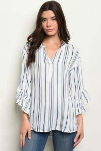 S14-12-3-T24450 NAVY STRIPES TOP 2-1