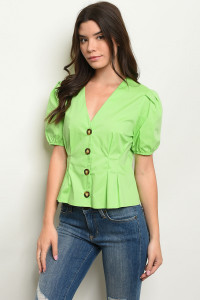 S12-4-5-T10437 LIME GREEN TOP 3-2-1