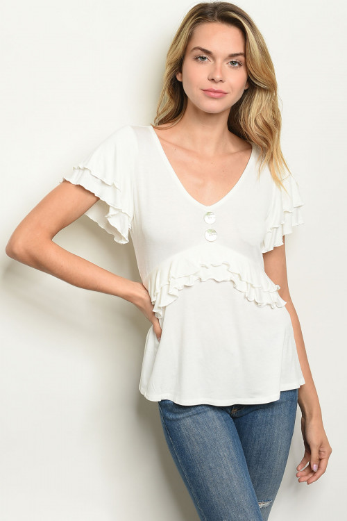 C13-B-7-T30766 OFF WHITE TOP 2-2-2