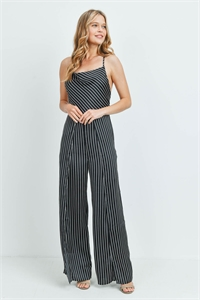 S8-2-1-J3009 BLACK STRIPES JUMPSUIT 2-2-2