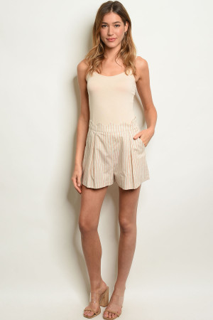 S25-8-2-S3037 NATURAL STRIPES SHORTS 4-2-1