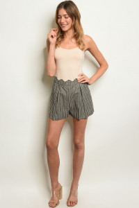 S14-9-3-S3037 BLACK STRIPES SHORTS 3-2-1
