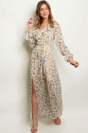 3e29064ab80a Quick View this Product S21-11-2-D2104 PEACH FLORAL DRESS 2-2-1