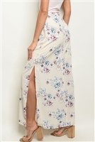 S15-11-3-S0612 CREAM WITH FLOWER PRINT SKIRT 3-2-1