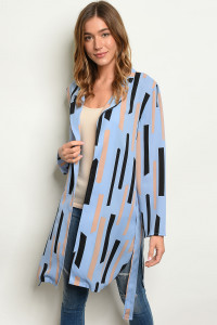 S13-1-5-C90819 BLUE BLACK CARDIGAN 2-2-2