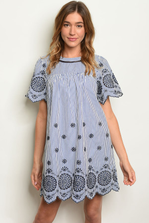 4fe9e479cd1f Quick View this Product S10-19-2-D32834 NAVY STRIPES DRESS 1-2-2