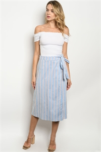 S17-11-2-S7171 BLUE STRIPES SKIRT 1-1-1