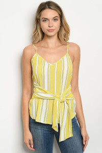 S21-4-4-T4900 LIME STRIPES TOP 2-2-2