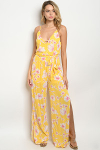 S18-2-3-J2428 YELLOW PRINT JUMPSUIT 2-2-2