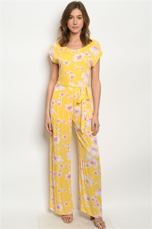 S21-6-4-J2424 YELLOW PRINT JUMPSUIT 2-2-2