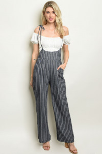 S19-3-4-J1795 NAVY STRIPES JUMPSUIT 2-2-2