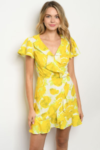 S18-2-5-D5657 YELLOW IVORY DRESS 3-2-1
