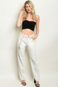 S6-9-1-P2275 OFF WHITE PANTS 3-2-1