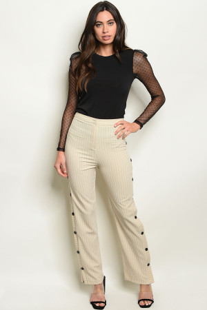 S8-12-5-P2838 SAND STRIPES PANTS 3-2-1
