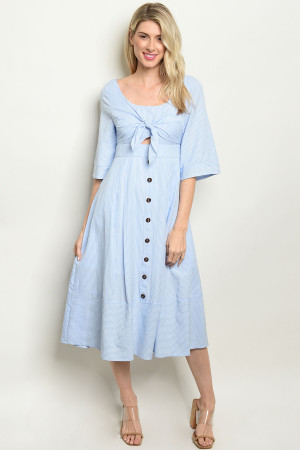 S19-4-1-D3062 BLUE STRIPES DRESS 2-2-2
