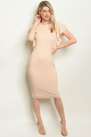 S19-6-1-D2103 TAUPE DRESS 2-2-2