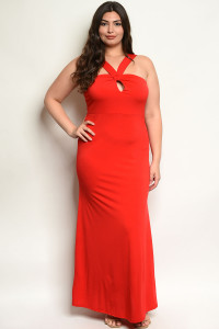 C5-A-7-D2038X RED PLUS SIZE DRESS 2-2-2