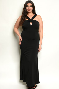 C5-A-7-D2038X BLACK PLUS SIZE DRESS 2-2-2