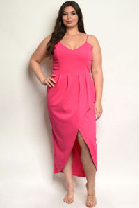 C7-A-7-D2059X FUCHSIA PLUS SIZE DRESS 2-2-2