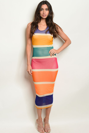 C88-A-4-D2567 MULTI COLOR DRESS 2-2-2