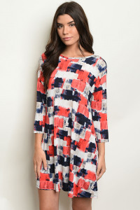 C15-A-3-D37366 RED NAVY DRESS 2-2-2