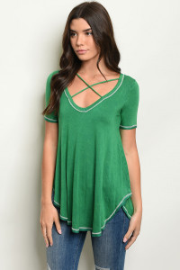 C81-B-4-T2880 GREEN WASH TOP 3-2-1