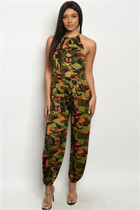 C92-A-2-J526110 ORANGE CAMOUFLAGE JUMPSUIT 3-2-1