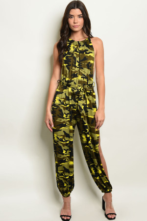 C92-A-1-J526110 YELLOW CAMOUFLAGE JUMPSUIT 3-2-1