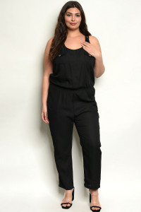 S5-1-2-J4546X BLACK PLUS SIZE JUMPSUIT 2-2-2