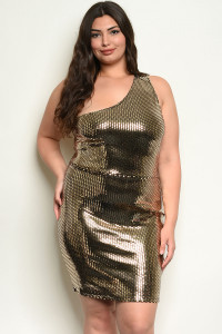 C101-A-6-D50704X GOLD PLUS SIZE DRESS 3-2-1