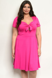 C54-A-3-D13741X MAGENTA PLUS SIZE DRESS 2-2-2