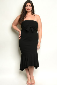 S11-1-3-D392X BLACK PLUS SIZE DRESS 2-2-2