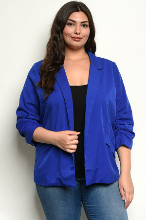 S10-6-5-B2531X ROYAL PLUS SIZE BLAZER 2-2-2