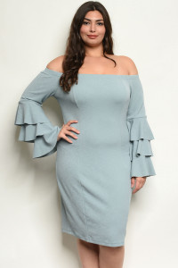 S11-6-1-D12681X SAGE PLUS SIZE DRESS 2-2-2