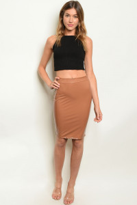 C36-B-2-S70173 BROWN SKIRT 3-2-1  ***PROP 65***