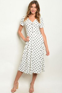 C10-A-7-D0825 IVORY WITH DOTS DRESS 2-2-2