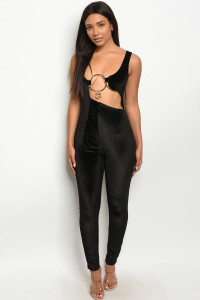 C58-A-6-J10416 BLACK JUMPSUIT 3-2-1