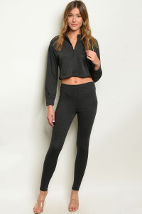 C78-A-3-SET30976 CHARCOAL TOP & PANTS SET 3-2-1