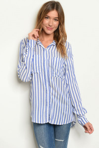 C2-B-1-T217618 BLUE WITH STRIPES TOP 1-3-3