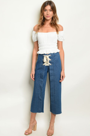 S3-4-2-P8361 MEDIUM DENIM PANTS 3-2-1