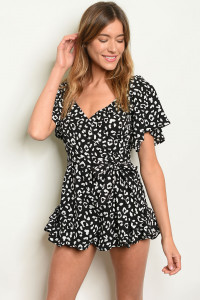 S3-4-3-R5613 BLACK WHITE ROMPER 3-2-1
