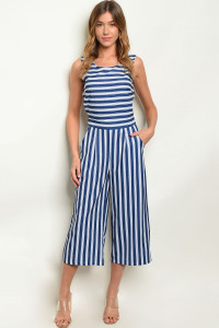 S23-11-5-J1827 NAVY STRIPES JUMPSUIT 2-2-2